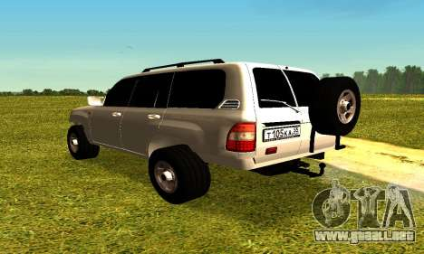 Toyota Land Cruiser 105V para GTA San Andreas left