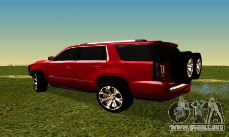 GMG Yukon 2015 para GTA San Andreas left