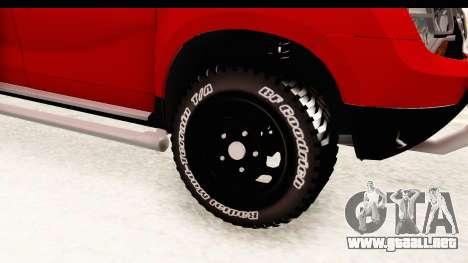 Dacia Duster Pickup para GTA San Andreas vista hacia atrás