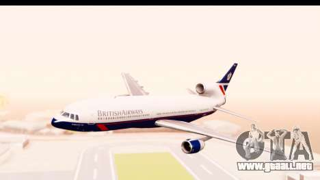 Lockheed L-1011-100 TriStar British Airways para GTA San Andreas vista posterior izquierda