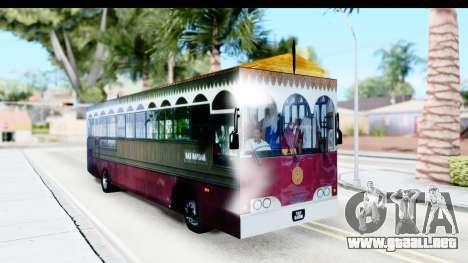 Cas Ligas Terengganu City Bus Updated para la visión correcta GTA San Andreas