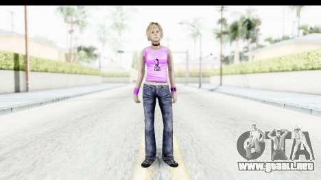 Silent Hill 3 - Heather Sporty Neon Pink para GTA San Andreas segunda pantalla