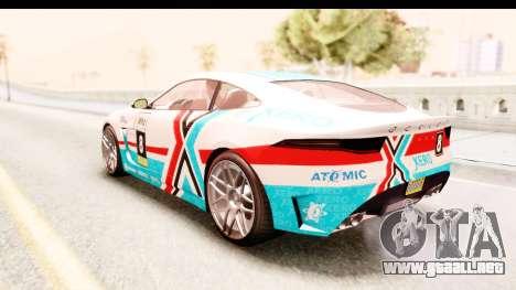 GTA 5 Ocelot Lynx para vista lateral GTA San Andreas