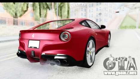 Ferrari F12 Berlinetta 2014 para la visión correcta GTA San Andreas