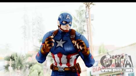 Marvel Heroes - Capitan America CW para GTA San Andreas sucesivamente de pantalla