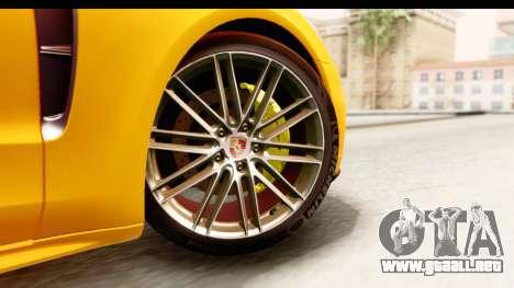 Porsche Panamera 4S 2017 v3 para GTA San Andreas vista posterior izquierda