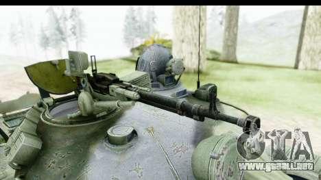 T-62 Wood Camo v2 para GTA San Andreas vista hacia atrás