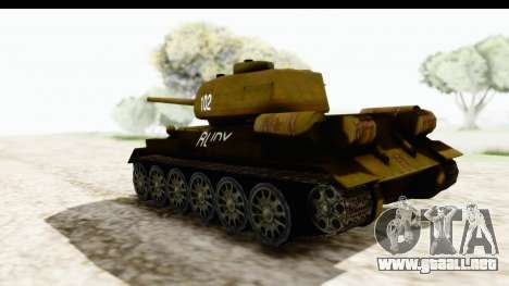T-34-85 Rudy 102 para GTA San Andreas left