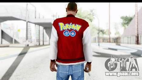 Jacket Pokemon Pokeball para GTA San Andreas segunda pantalla