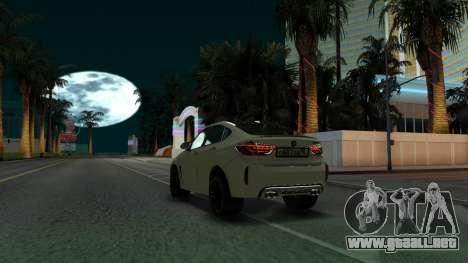 BMW X6M Bulkin Edition para GTA San Andreas vista hacia atrás