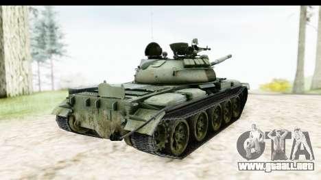 T-62 Wood Camo v2 para GTA San Andreas vista posterior izquierda