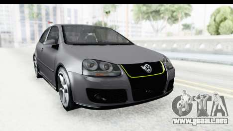 Volkswagen Golf 5 Stock para la visión correcta GTA San Andreas