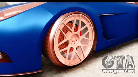 GTA 5 Ocelot Lynx para GTA San Andreas vista hacia atrás