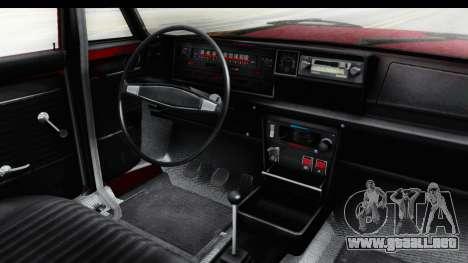 Zastava 125PZ Roadster Coupe para visión interna GTA San Andreas