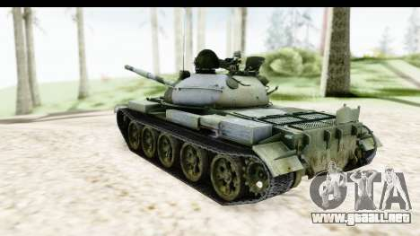 T-62 Wood Camo v2 para GTA San Andreas left