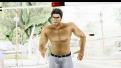Yakuza 5 Kazuma Kiryu Topless Tatoo para GTA San Andreas