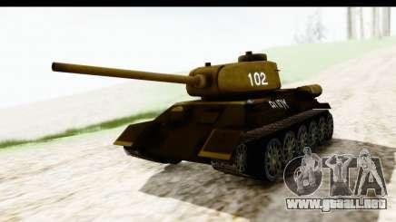 T-34-85 Rudy 102 para GTA San Andreas