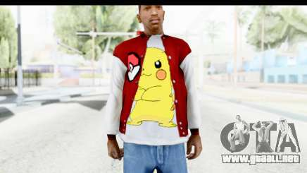 Jacket Pokemon Pokeball para GTA San Andreas