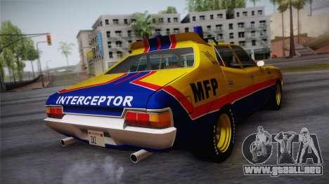 Main Force Patrol Vehicle Mad Max para GTA San Andreas left