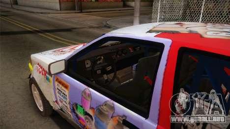 Toyota AE86 2 Door Levin para visión interna GTA San Andreas