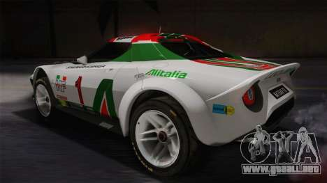 Lancia Stratos para GTA San Andreas left