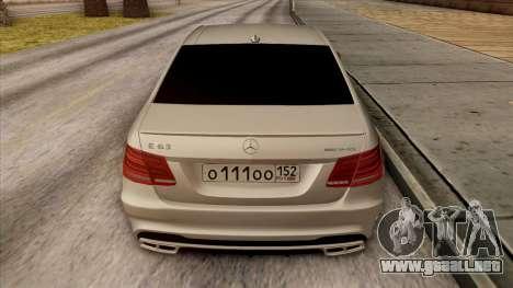Mercedes-Benz E63 v.2 para el motor de GTA San Andreas