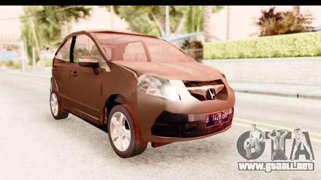 Honda Brio para la visión correcta GTA San Andreas