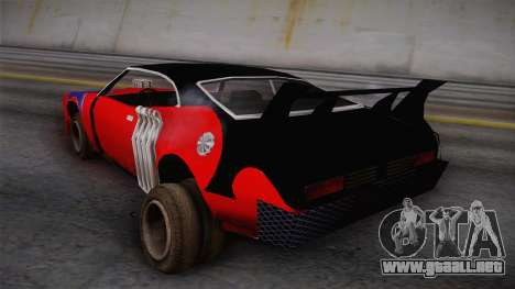 Ford Falcon 1972 Red Bat para GTA San Andreas left