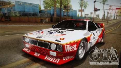 Lancia Rally 037 Stradale (SE037) 1982 IVF PJ3 para GTA San Andreas left