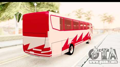 Smaga Bus para GTA San Andreas vista posterior izquierda