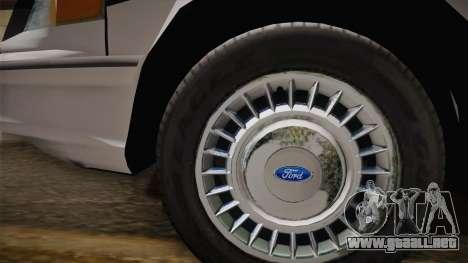 Ford Crown Victoria 1997 El Quebrados Police para la visión correcta GTA San Andreas