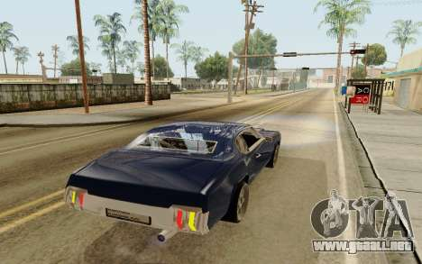 HD Sabre Greedy para GTA San Andreas vista posterior izquierda
