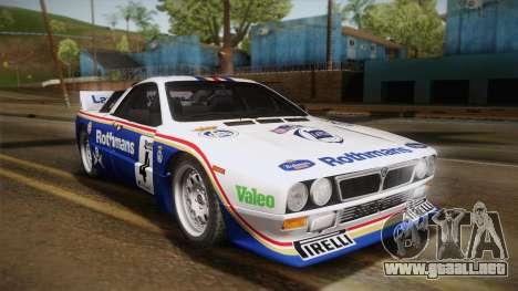 Lancia Rally 037 Stradale (SE037) 1982 IVF Dirt2 para la visión correcta GTA San Andreas