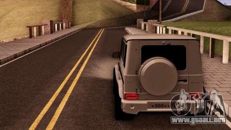 Mercedes-Benz G65 para GTA San Andreas vista hacia atrás