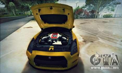 Nissan GT-R R35 Premium para vista lateral GTA San Andreas