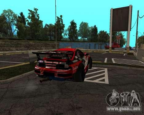 D1GP Toyota Supra Hadaka Supra JZA80 para vista lateral GTA San Andreas