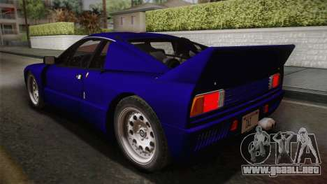 Lancia Rally 037 Stradale (SE037) 1982 IVF Dirt1 para GTA San Andreas left