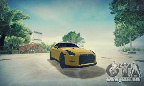 Nissan GT-R R35 Premium para la vista superior GTA San Andreas