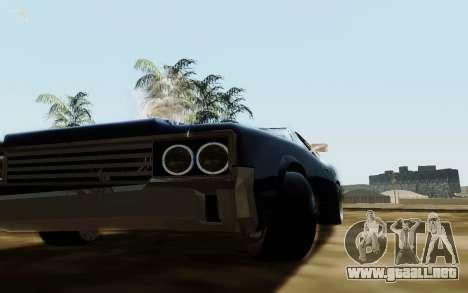 HD Sabre Greedy para GTA San Andreas vista hacia atrás