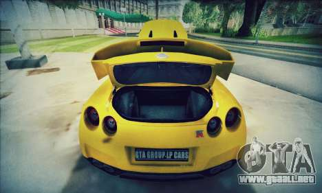 Nissan GT-R R35 Premium para visión interna GTA San Andreas
