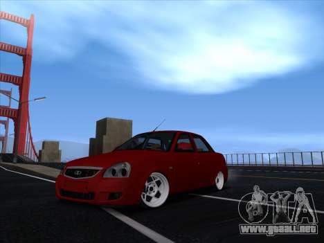 VAZ 2170 STANCE para GTA San Andreas vista posterior izquierda