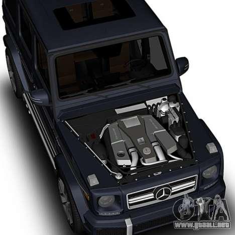 Mercedes-Benz G63 para la visión correcta GTA San Andreas