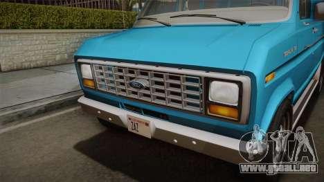 Ford E-150 Commercial Van 1982 2.0 para la visión correcta GTA San Andreas