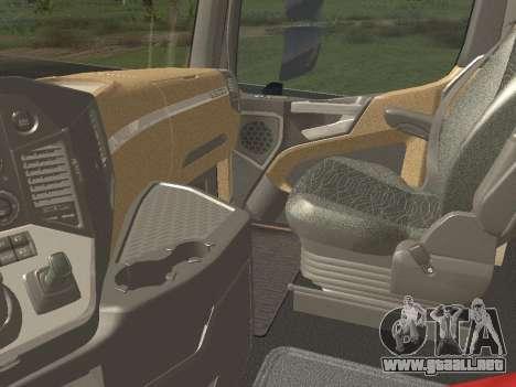 Mercedes-Benz Actros Mp4 6x4 v2.0 Gigaspace para visión interna GTA San Andreas
