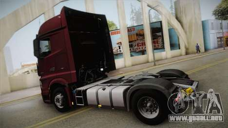 Mercedes-Benz Actros Mp4 4x2 v2.0 Bigspace v2 para GTA San Andreas left
