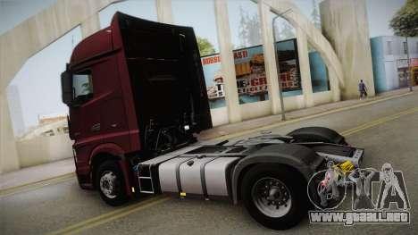 Mercedes-Benz Actros Mp4 4x2 v2.0 Bigspace v2 para GTA San Andreas left
