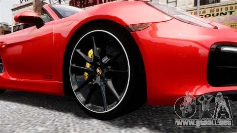 Porsche Boxster GTS 2014 para GTA 4 visión correcta