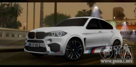 BMW X6M F86 M Performance para GTA San Andreas
