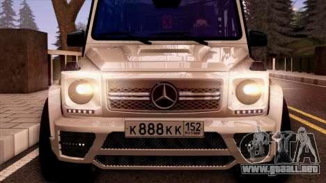 Mercedes-Benz G65 para visión interna GTA San Andreas