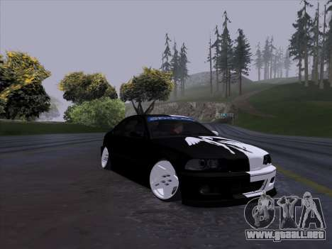 BMW E46 Good and Evil para GTA San Andreas vista posterior izquierda
